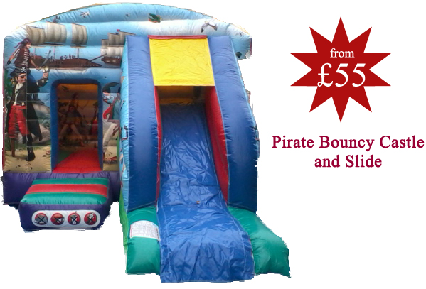 pirate bouncy castle and slide